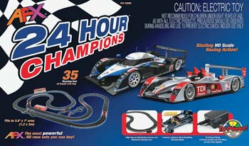 This is the 24 Hour Champions Complete   Ready to Run Electric Slot Car  Racing Set by Tomy® AFX®. Suitable for Ages 8   Older. eb2f42903c94