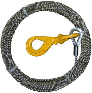 Wire Rope Assembly with Self Locking Hook